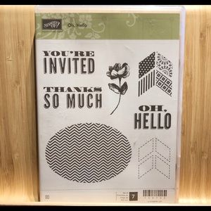 "🍒 Stampin' Up! 🍒 « Oh, Hello"" Stamp Set"